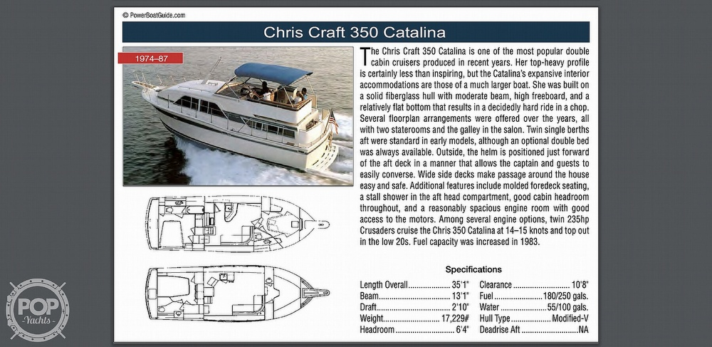 1977 Chris Craft boat for sale, model of the boat is 350 Catalina & Image # 27 of 28