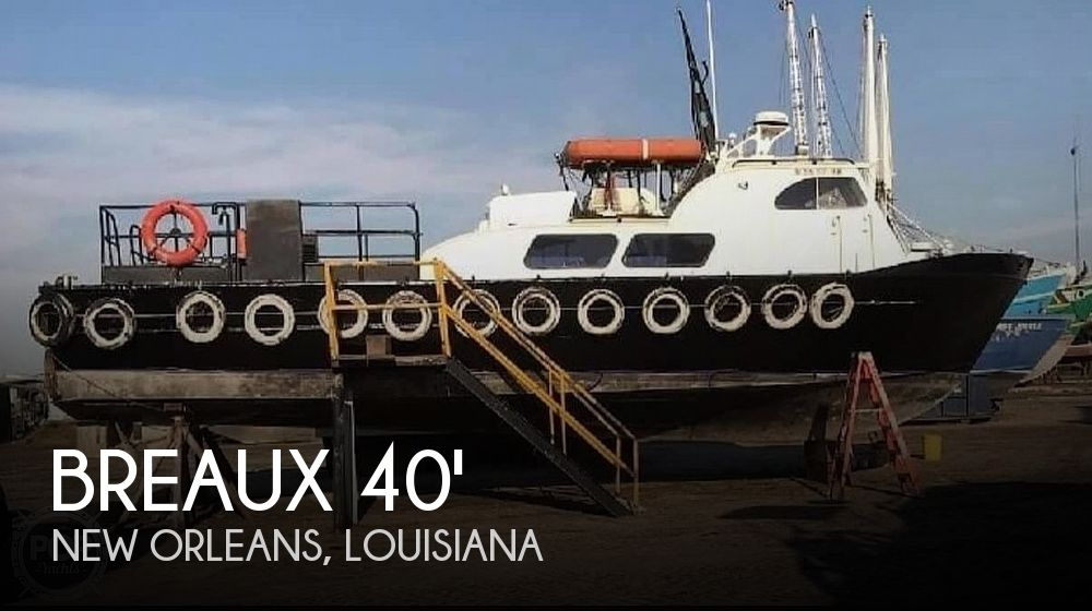 Used Power boats For Sale in Louisiana by owner   1973 Breaux 40' Crew Boat