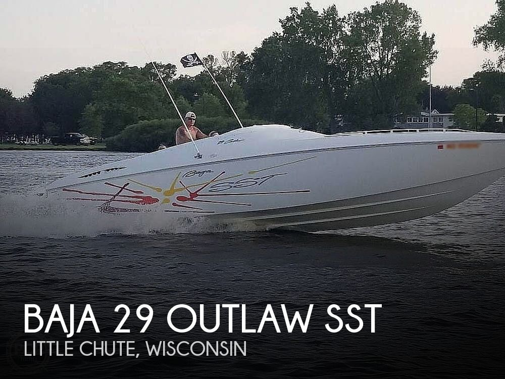 2001 Baja boat for sale, model of the boat is 29 Outlaw SST & Image # 1 of 40