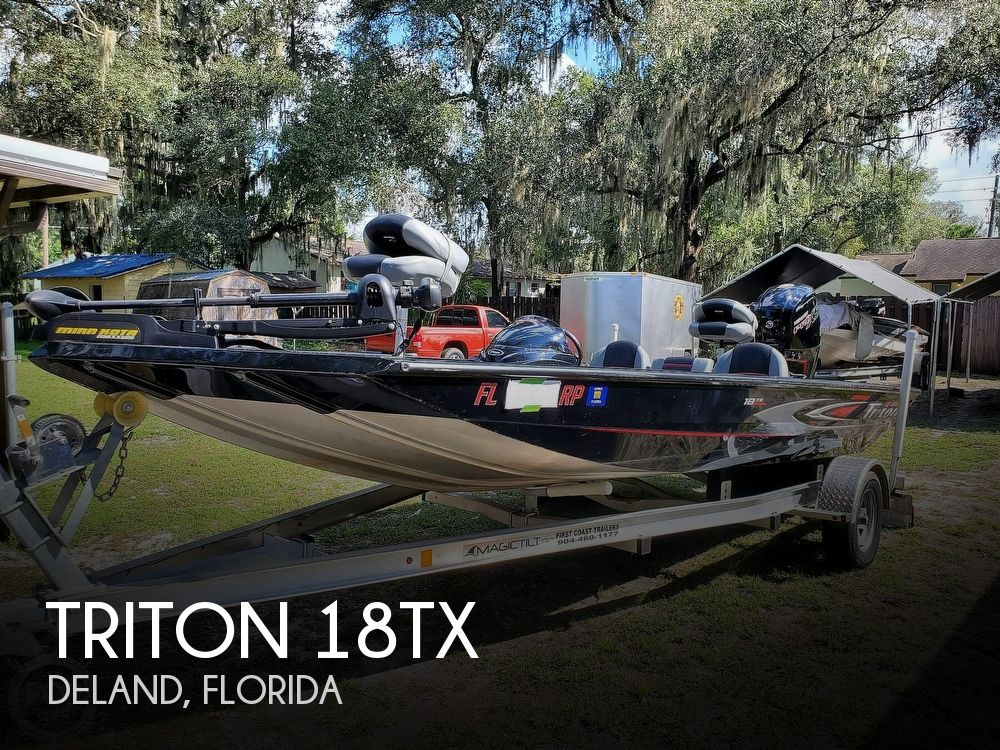 2017 Triton boat for sale, model of the boat is 18TX & Image # 1 of 40