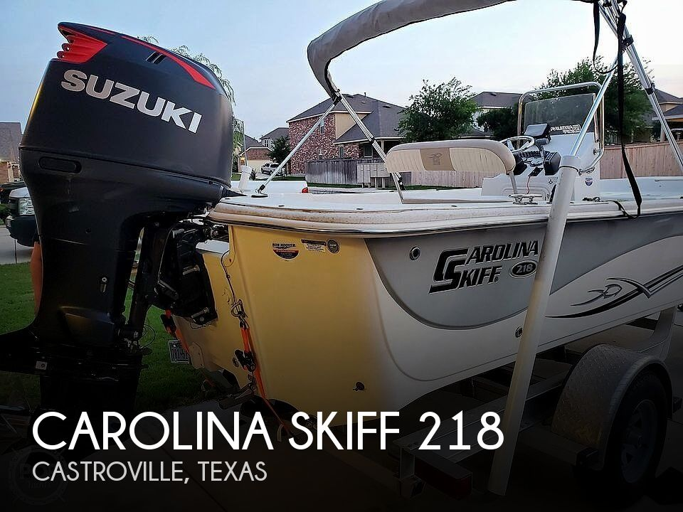2016 Carolina Skiff boat for sale, model of the boat is 218 & Image # 1 of 19