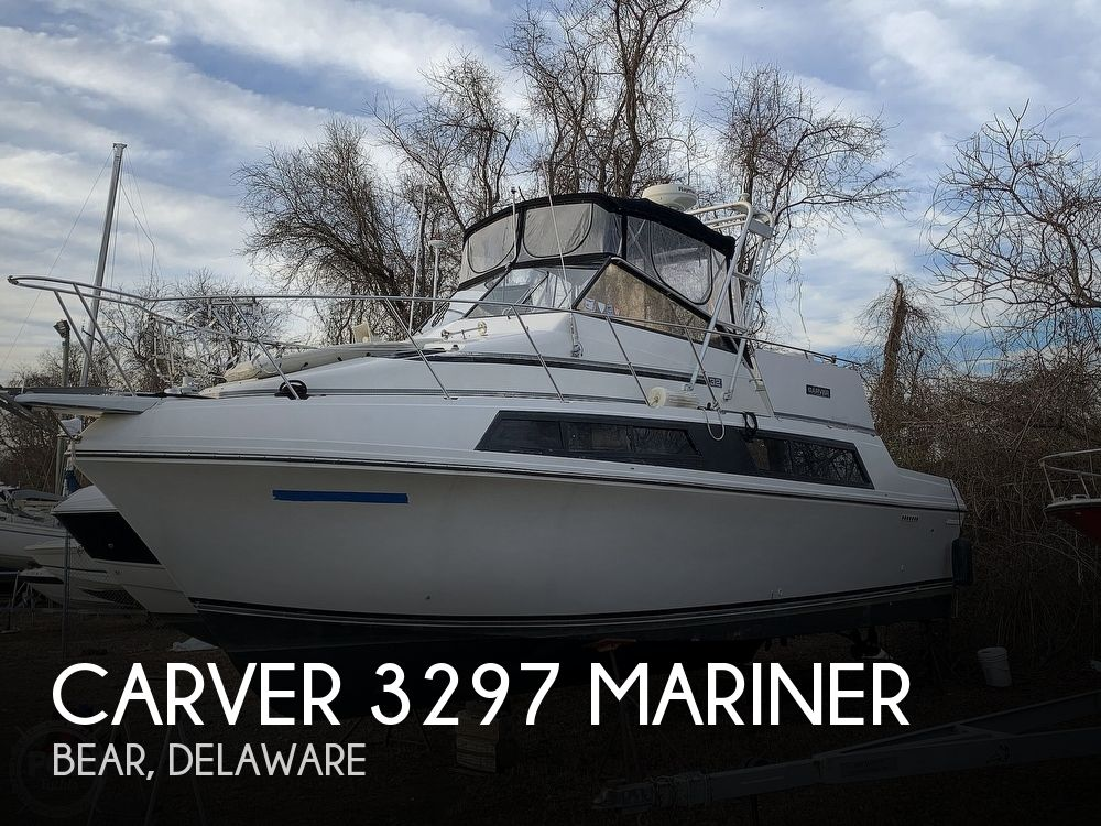 1986 Carver boat for sale, model of the boat is 3297 Mariner & Image # 1 of 40