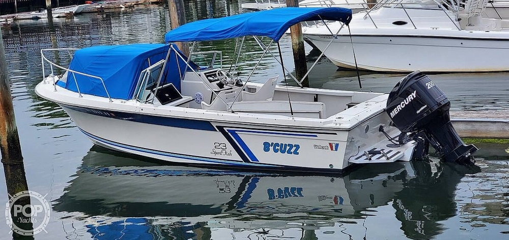 1987 Wellcraft boat for sale, model of the boat is 23 Sports Fisherman & Image # 4 of 40