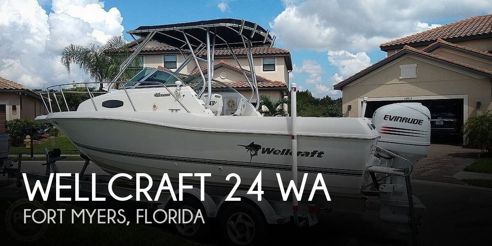 2002 Wellcraft boat for sale, model of the boat is 24 & Image # 1 of 40