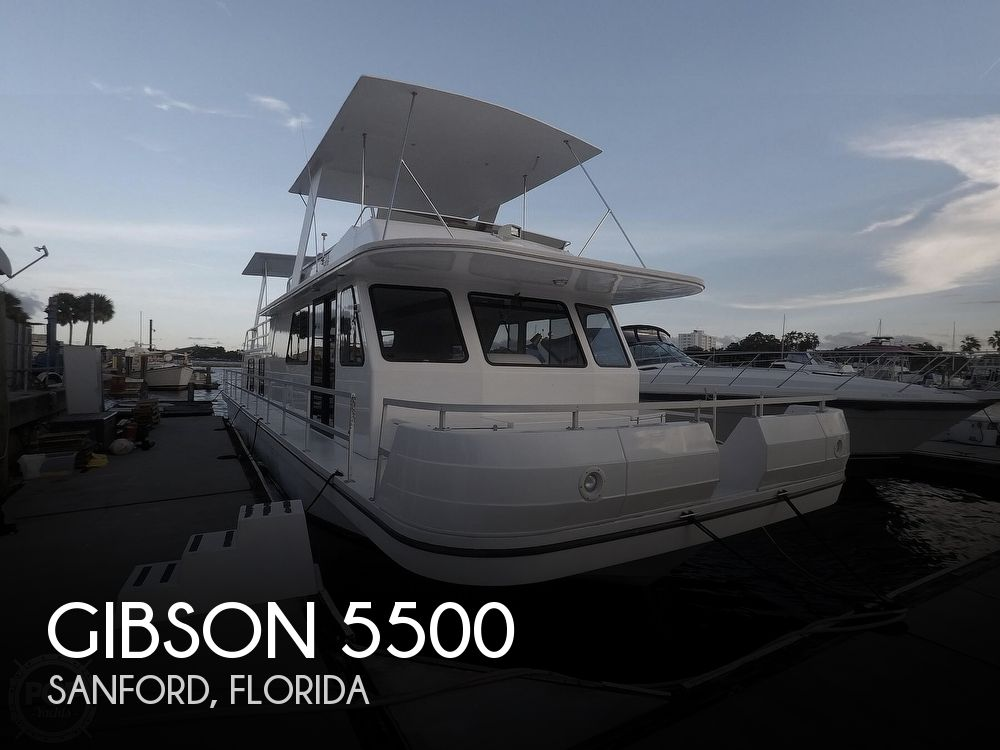 2001 Gibson boat for sale, model of the boat is 5500 & Image # 1 of 40