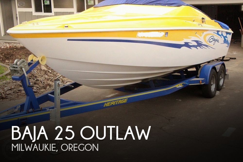 2005 Baja boat for sale, model of the boat is 25 Outlaw & Image # 1 of 40