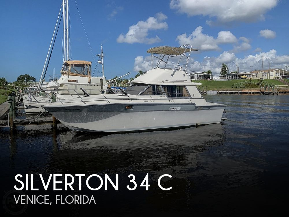 1986 Silverton boat for sale, model of the boat is 34 C & Image # 1 of 40