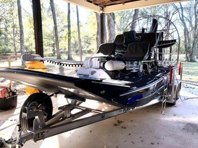 WOW! Custom Airboat With Only About 20 Hours!