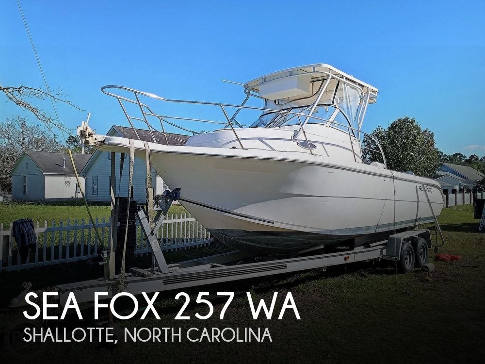 2003 Sea Fox boat for sale, model of the boat is 257 WA & Image # 1 of 40