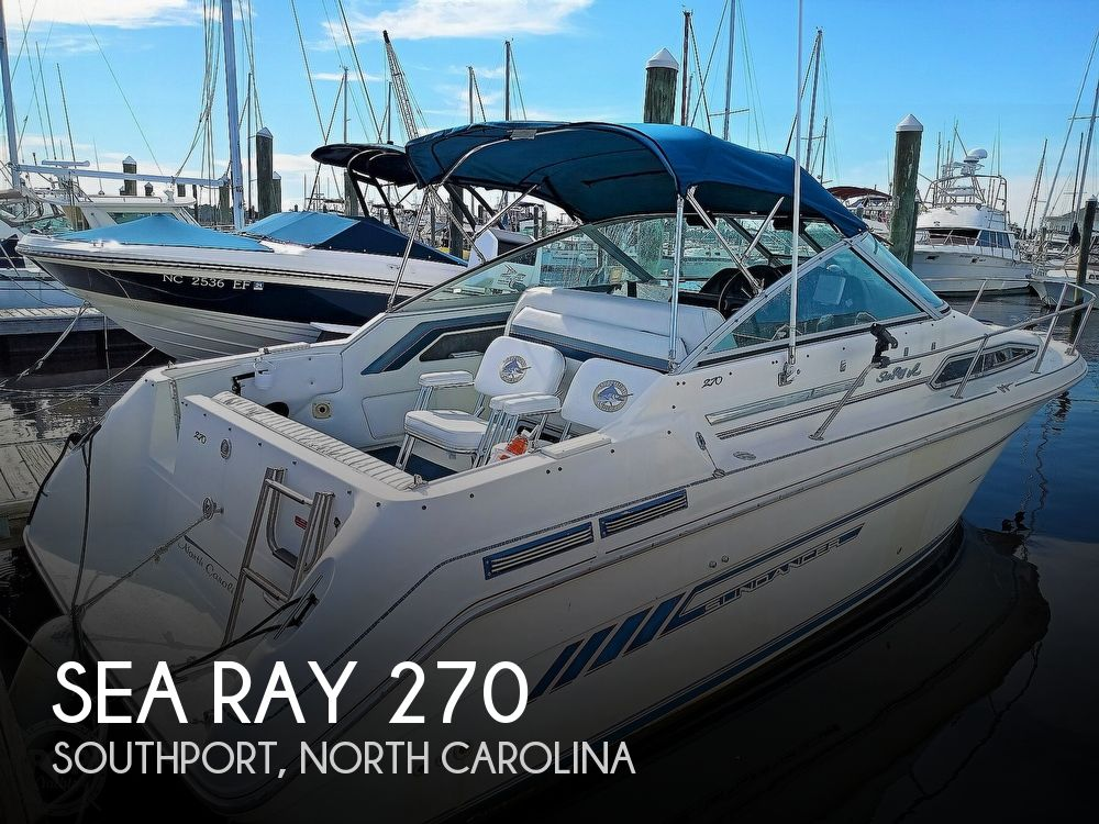 1993 Sea Ray boat for sale, model of the boat is 270 Sundancer & Image # 1 of 40