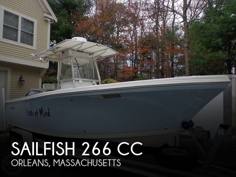 2005 Sailfish boat for sale, model of the boat is 266 CC & Image # 1 of 40
