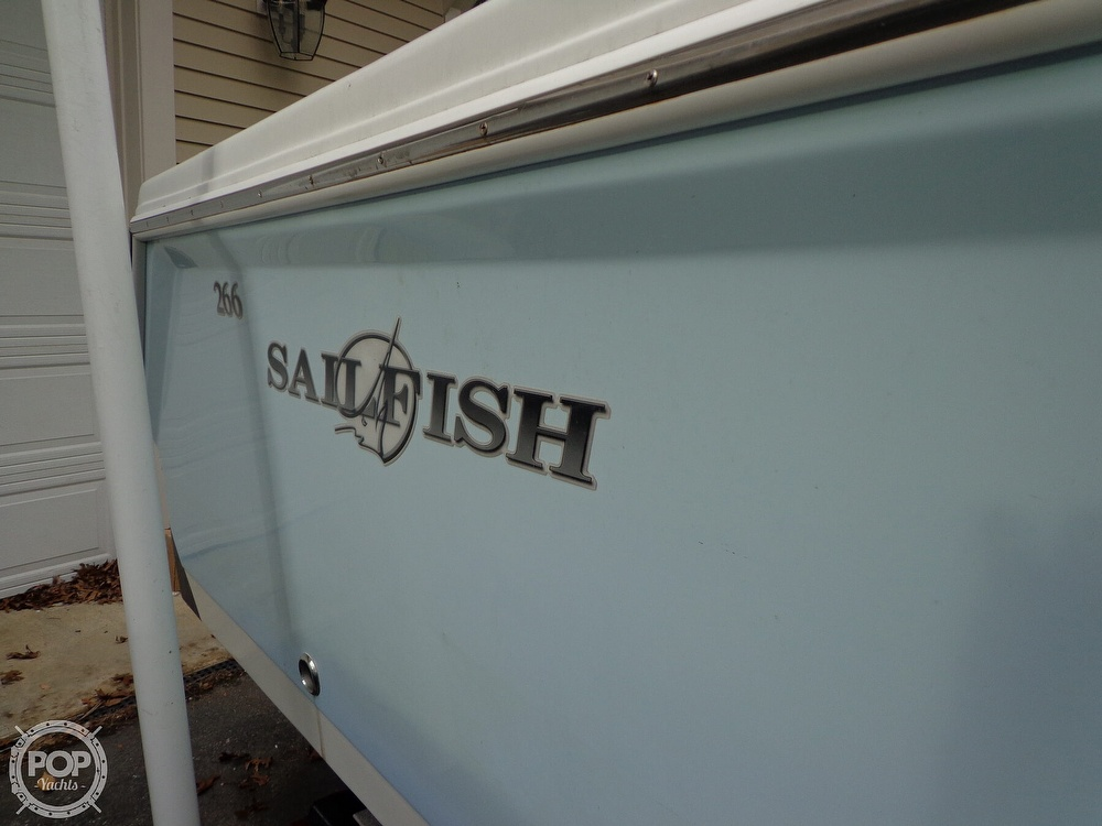 2005 Sailfish boat for sale, model of the boat is 266 CC & Image # 8 of 40