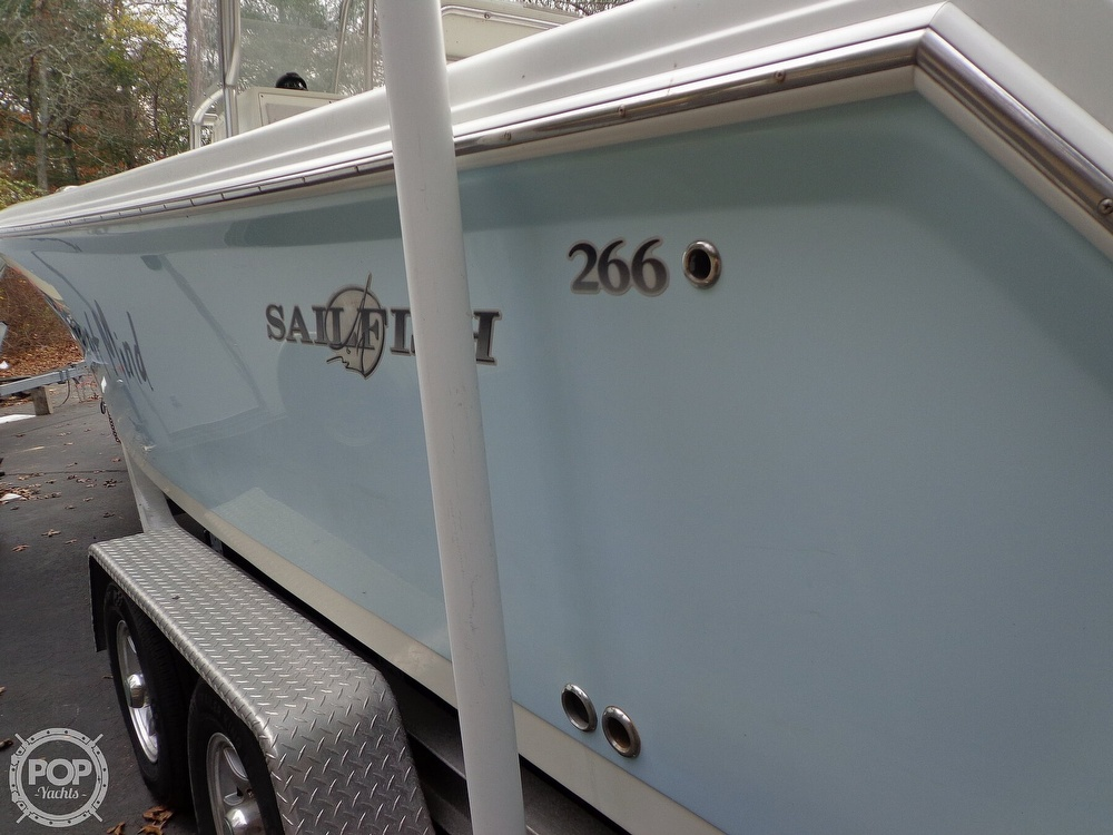 2005 Sailfish boat for sale, model of the boat is 266 CC & Image # 13 of 40