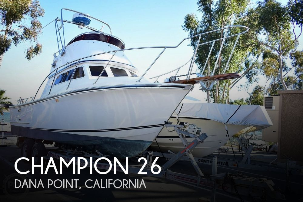 1985 Champion boat for sale, model of the boat is 26 Fish Hunter (Blackman) & Image # 1 of 40