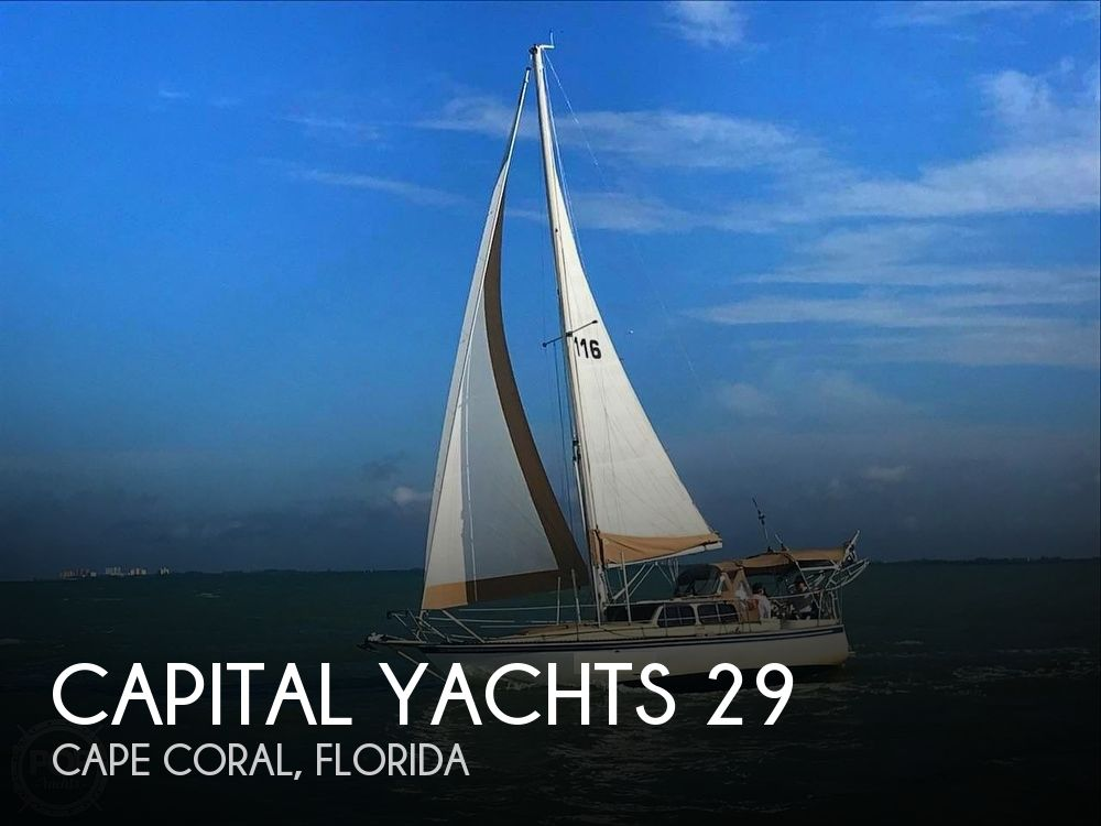 1989 Capital Yachts boat for sale, model of the boat is Gulf 29 Pilot & Image # 1 of 40