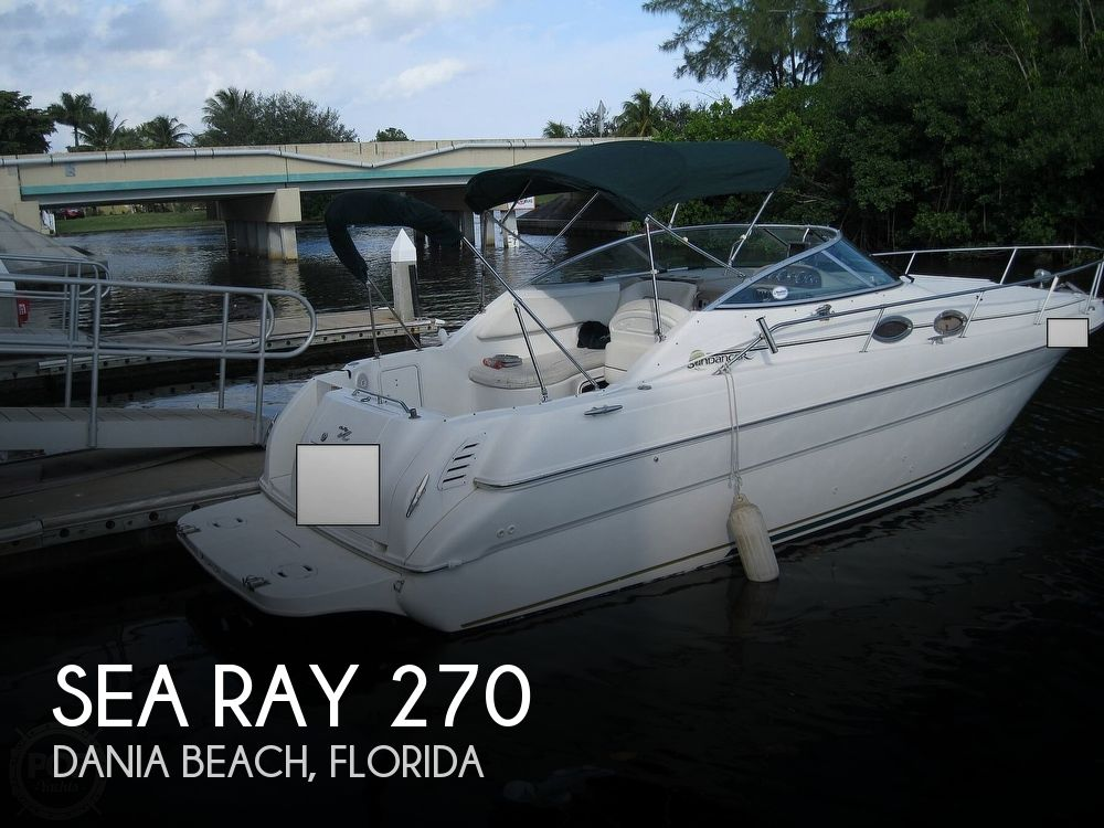 2001 Sea Ray boat for sale, model of the boat is 270 Sundancer & Image # 1 of 40