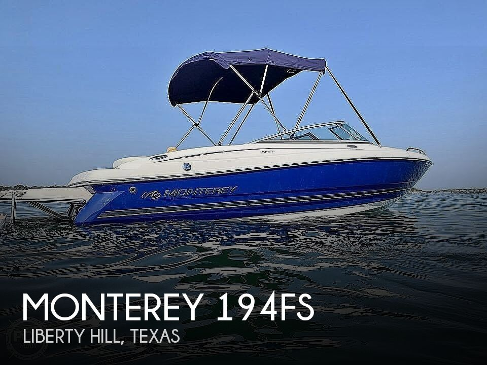2005 Monterey boat for sale, model of the boat is 194fs & Image # 1 of 40