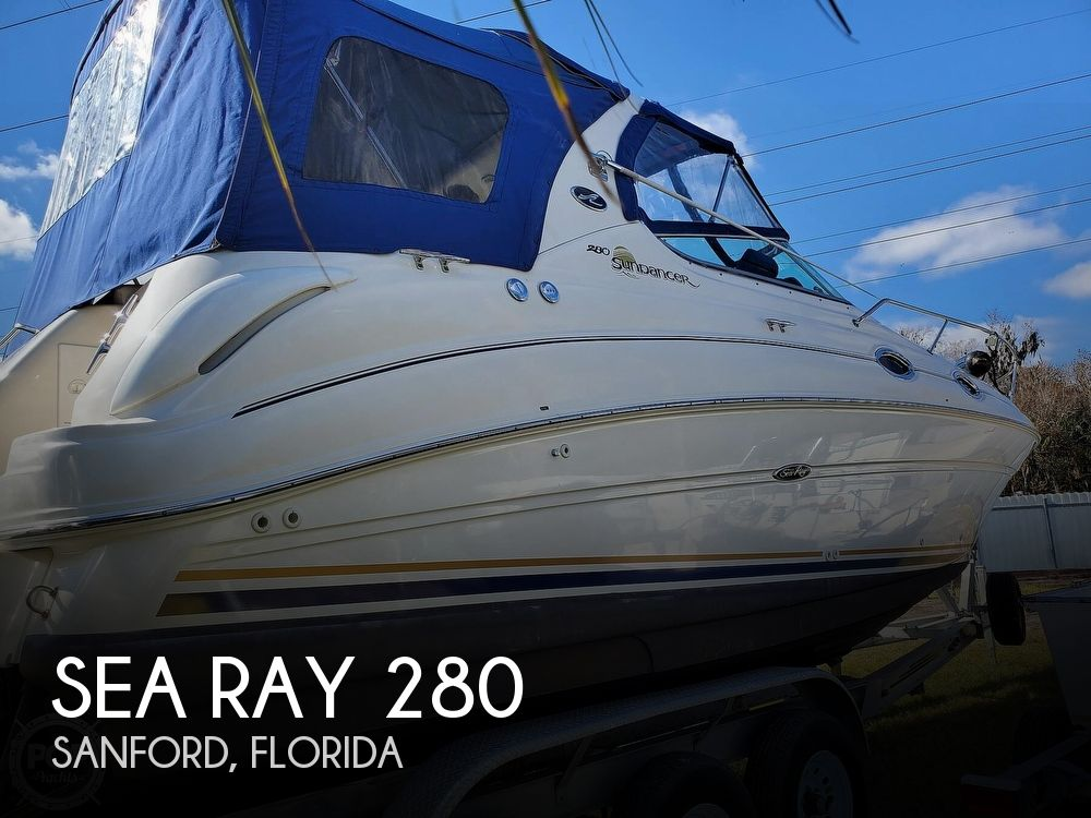 2003 Sea Ray boat for sale, model of the boat is 280 Sundancer & Image # 1 of 40