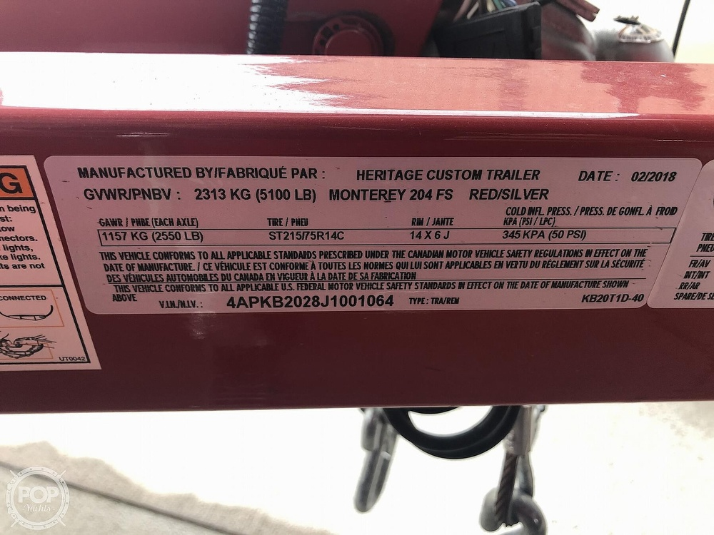 2018 Monterey boat for sale, model of the boat is 204FS & Image # 11 of 40