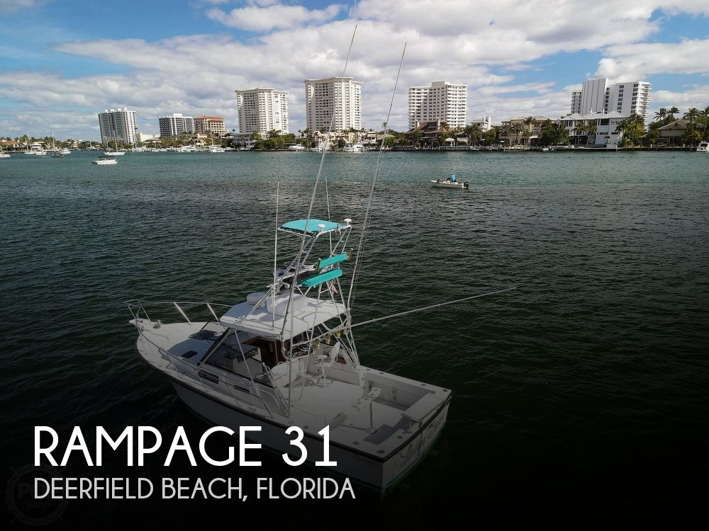 Used Rampage Boats For Sale by owner   1986 Rampage Sportfish 31