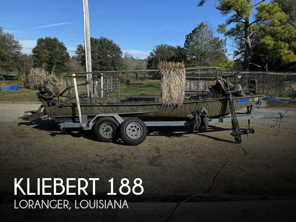 2016 Kliebert boat for sale, model of the boat is 18.8 With Hunt Deck x 48 Bottom & Image # 1 of 40