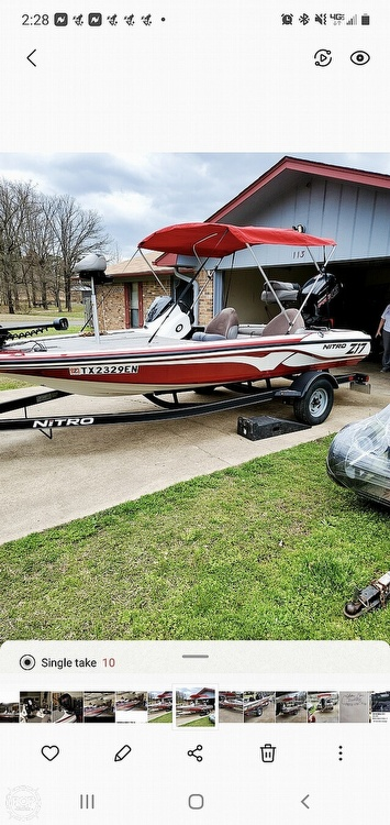 2017 Nitro boat for sale, model of the boat is Z17 & Image # 2 of 12