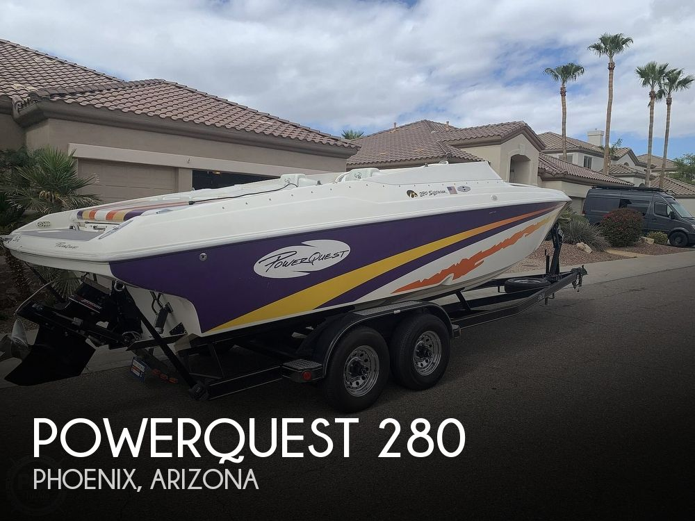 2002 Powerquest boat for sale, model of the boat is 280 Silencer & Image # 1 of 40