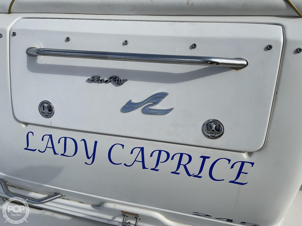 2001 Sea Ray boat for sale, model of the boat is 245 Weekender & Image # 35 of 40
