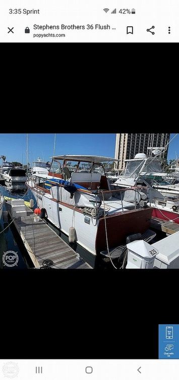 1960 Stephens Brothers boat for sale, model of the boat is 36 Flush Deck Motoryacht & Image # 21 of 25