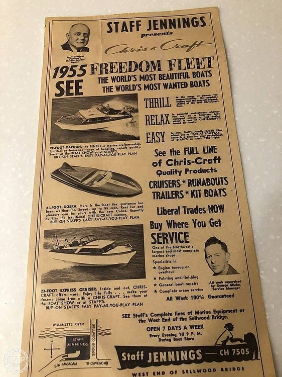 1954 Chris Craft boat for sale, model of the boat is 23 & Image # 8 of 15