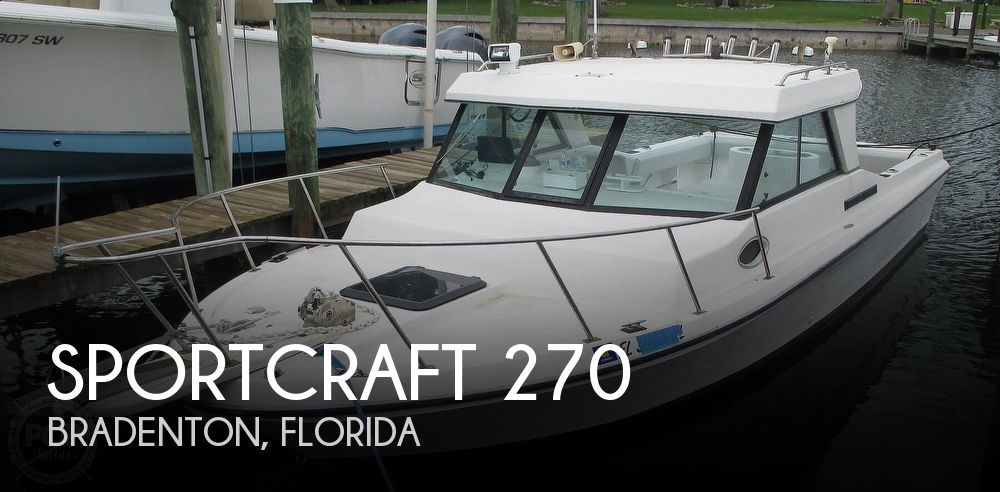 1993 Sportcraft boat for sale, model of the boat is Fisherman 270 & Image # 1 of 40