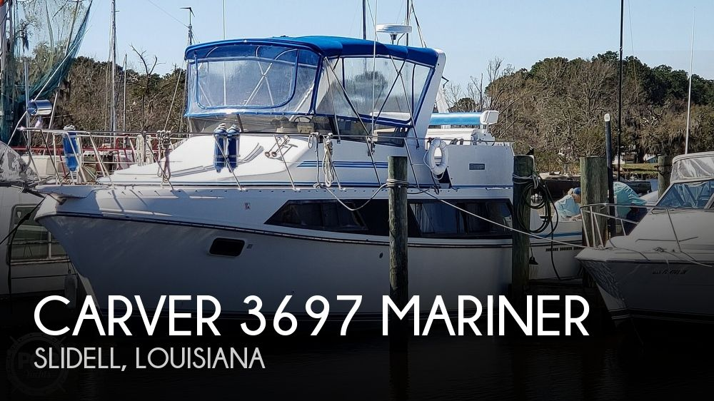 1988 Carver boat for sale, model of the boat is 3697 Mariner & Image # 1 of 40