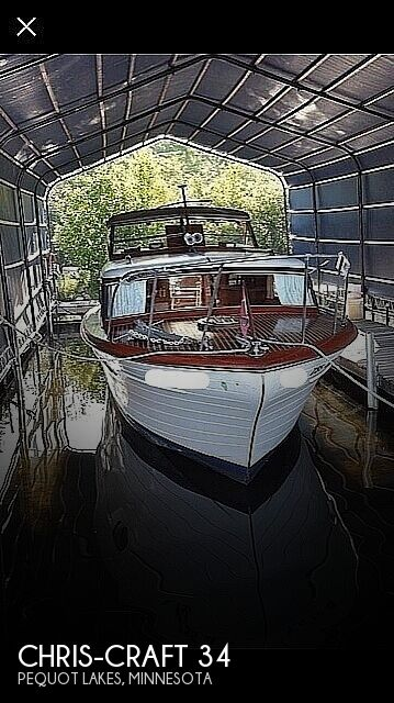 1956 Chris Craft boat for sale, model of the boat is Constellation 34 & Image # 1 of 14