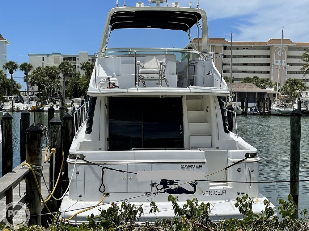 2002 Carver boat for sale, model of the boat is Voyager 450 Pilothouse & Image # 3 of 40