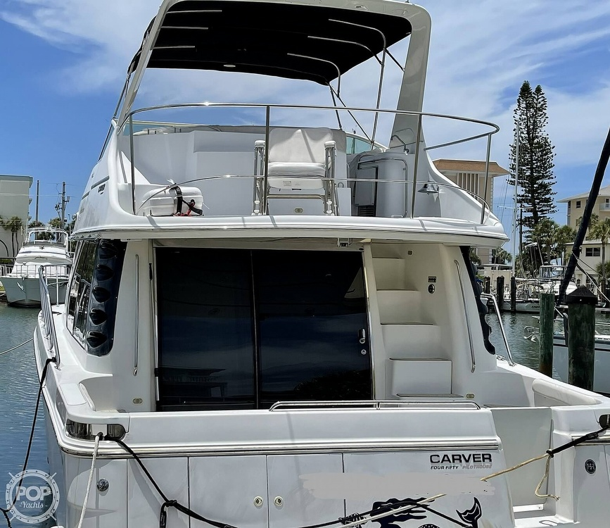 2002 Carver boat for sale, model of the boat is Voyager 450 Pilothouse & Image # 9 of 40