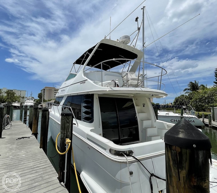 2002 Carver boat for sale, model of the boat is Voyager 450 Pilothouse & Image # 11 of 40
