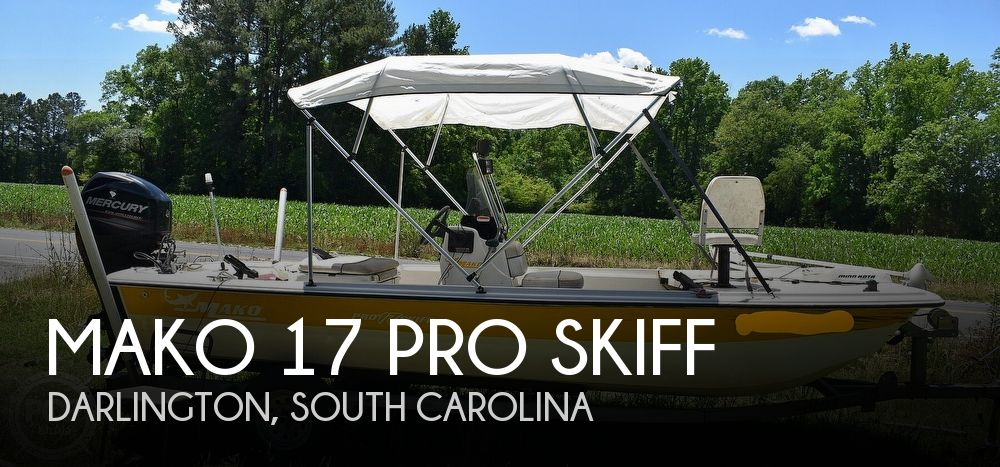 2016 Mako boat for sale, model of the boat is 17 Pro skiff & Image # 1 of 40