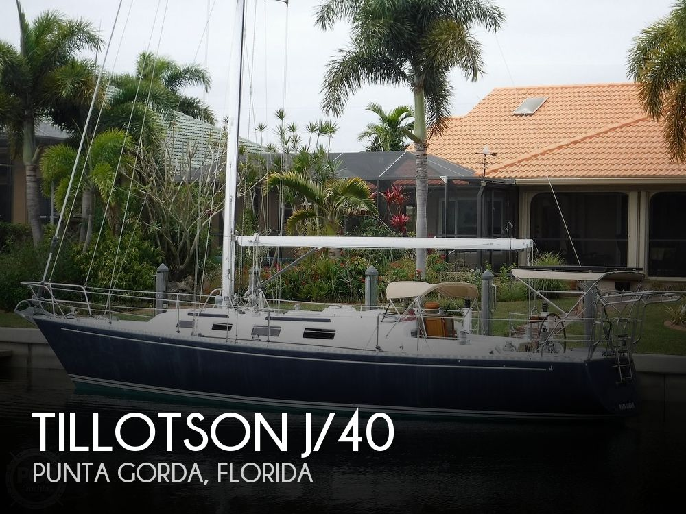 1987 Tillotson & Pearson boat for sale, model of the boat is J-40 & Image # 1 of 40