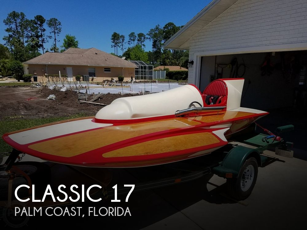 2019 Classic boat for sale, model of the boat is Handcrafted Clarkcraft Design Hydroplane & Image # 1 of 36