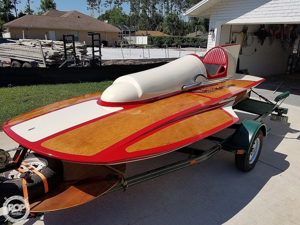2019 Classic boat for sale, model of the boat is Handcrafted Clarkcraft Design Hydroplane & Image # 2 of 36