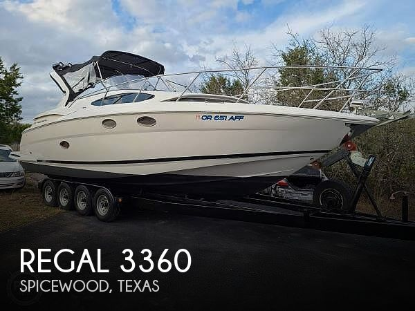 Used Boats For Sale in Killeen, Texas by owner | 2005 Regal 3360 Window Express