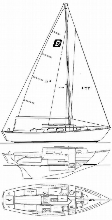 1975 Cape Dory boat for sale, model of the boat is 25 & Image # 2 of 40