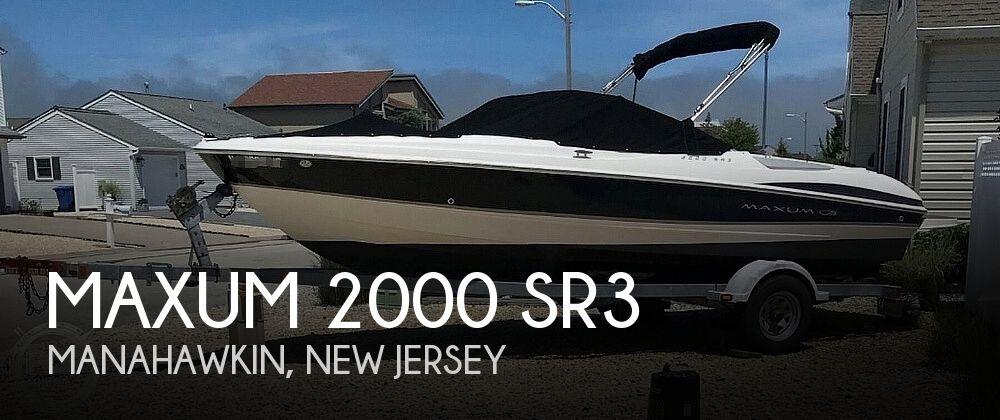 2008 MAXUM 2000 SR3 for sale