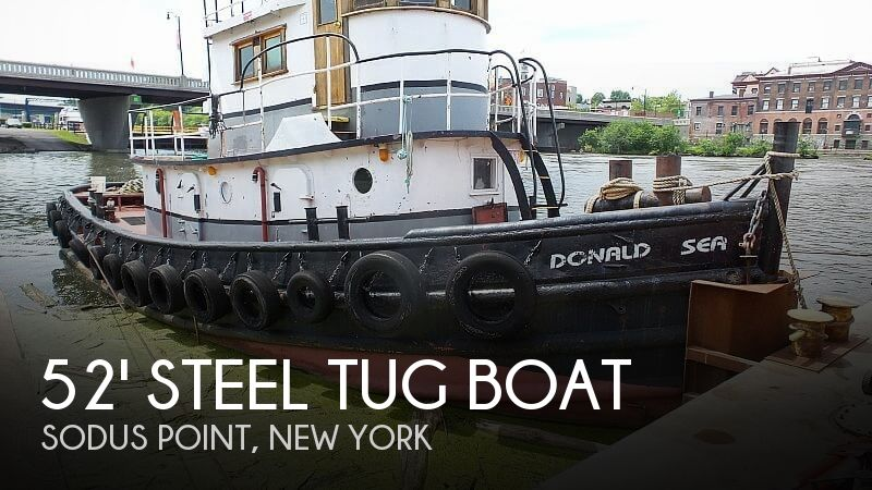 Used Boats For Sale in Syracuse, New York by owner | 1964 52 foot 52' Steel Tug Boat Larose Louisiana Built