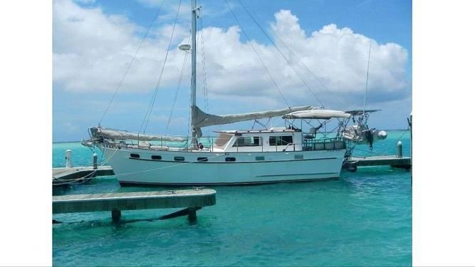 1985 Island Trader boat for sale, model of the boat is 40 Motorsailer & Image # 2 of 40