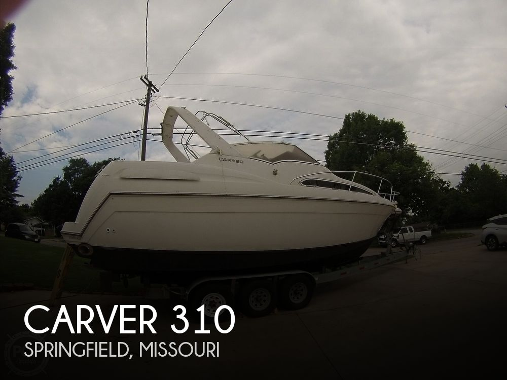 1995 Carver boat for sale, model of the boat is 310 mid cabin express & Image # 1 of 40