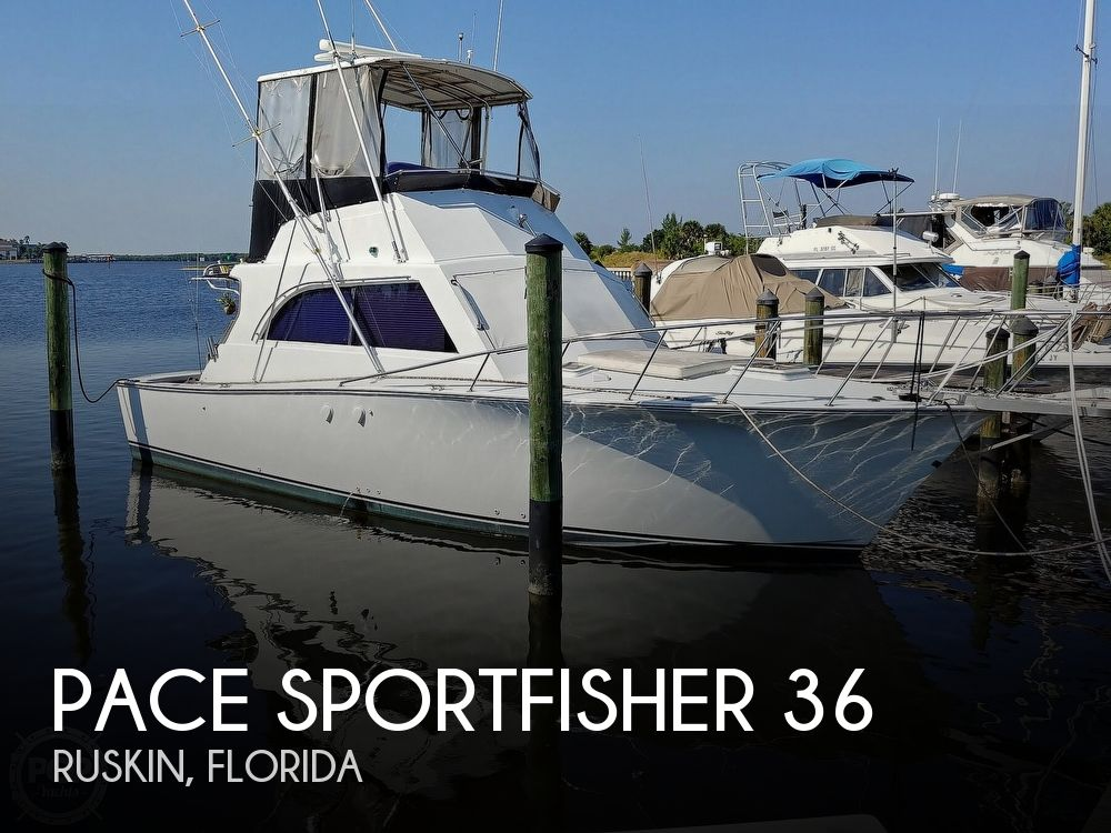 1991 Pace boat for sale, model of the boat is Sportfisher 36 & Image # 1 of 8