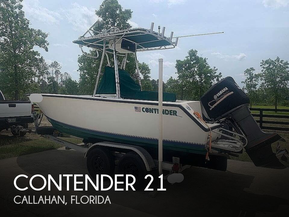 1995 Contender boat for sale, model of the boat is 21 & Image # 1 of 40
