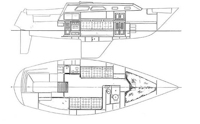 1977 Islander boat for sale, model of the boat is 32 MK II & Image # 7 of 40