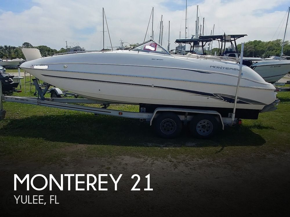 2000 Monterey boat for sale, model of the boat is 220 Explorer Sport & Image # 1 of 40